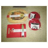 red cutting board new sealed