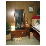Vintage Dresser, Brush Trees, Christmas Cards