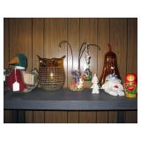 Radko Holloween Ornament, Glass Owl, Gourd (lights)