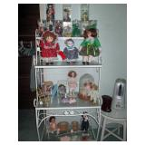 Middle Bed Room Collector Dolls, Beanie Babies