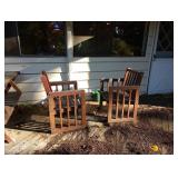 Back Porch:  Deck Chairs
