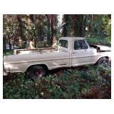 Outside:  1967 F100 2 Wheel Drive 3 Speed Column Shift  Vin #F10ARB15518 Clear Title