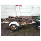 Out Front:  1992 Motorcycle trailer  (As is) Vin: #1HJ041215C0008871     Clear Title