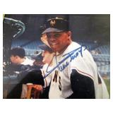 Willie Mays Autographed Color Photo