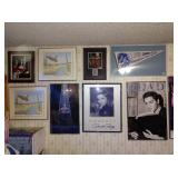 "Up Center: Pictures, Eagles, Charlton Heston Autographed ""10 Commandments"", Elvis Pictures/Posters,"