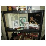 Living Room: Elvis Presley Liquor Bottles