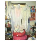 Down 1st Bedroom Right: 3 Rabbit Costumes