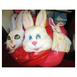 Down 1st Bedroom Right: 3 Rabbit Heads Costumes