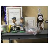 Living Room:  Ichiro Bobble Head (Mariners) & Willis Bloomquist (Aqua Socks)
