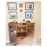 Living Room: Oak Drop front Desk