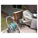 Back Yard: Garden Hose, Small Table,