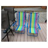 Back Yard: 2 Lawn Chairs