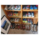 1st Bedroom Right: Running Shoes-IGS, Hoka, DNA, Brook gts 14, New Balance, Hiking-Rockport, Vasque