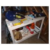 Garage: Baseball Mitt, Soft Balls, baseballs, Soccer Ball, Tennis Balls, Golf Balls