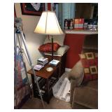 TV Room: Tripod, Lamp, Side Table
