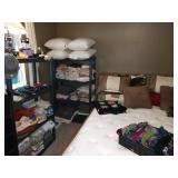 3rd Bedroom Center: Pillows, Sheets-(Queen & Full), Blankets, Towels