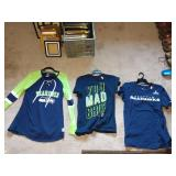 1st Bedroom Right: Seahawks, shirts, Jackets,  Mariners Sweatshirt w/Hood
