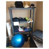 2nd Bedroom Right: Exercise Equipment & Clothes, Biking outfits, Blue Ball