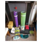 2nd Bedroom Right: Yoga Wood Blocks, Pads, Hand Weights, Scuba Weights,
