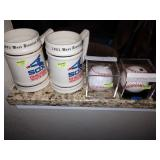 Dining Room:  Mugs-Chicago  White Soxs-Base Balls Signed by  Edgar Martinez & Jamie Moyer