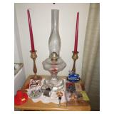 Dining Room:  Oil Lamp, Candles, Etc.