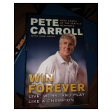 "TV Room:  Pete Carroll Book Autographed ""Win Forever"" First Edition"""