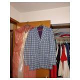 1st Bedroom Right:  Raise your sights men. This Sports Coat is in great shape. Reunion Parties ready