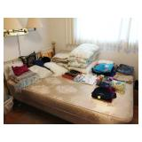 2nd Bedroom Right: Queen Bed, Blankets, Pillows, Jeans
