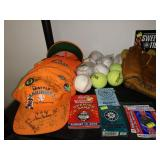 Dining Room:  Autographed Spring Training Orange Hats w/Collector Pins, Seahawks New Stadium Coins