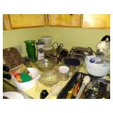 Kitchen:  Vintage Mixer, Toaster, Mixing Bowls, Cooking Stuff