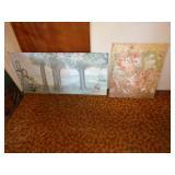 Basement Room Left:  Oil pictures