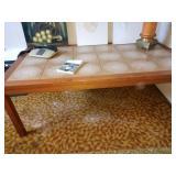 Basement Room Left:  MCM Tile Coffee Table