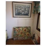 Basement Room Left:  Oil Paintings