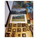 Basement Room Left:  Prints, Gold Squares (Varies Designs)