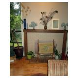 Living Room:  Vases, Plant, Needle Point Stretcher,