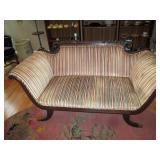 Living Room:  Antique Sleigh Sofa