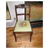 Kitchen Area:  Needle Point Chairs