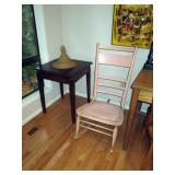 Kitchen Area:  Vintage Lazy Susan Table,  Vintage Pink Rocking Chair