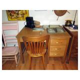 Kitchen Area: Vintage Small Oak Desk