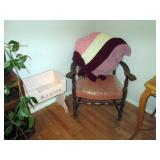Kitchen Area:  Vintage Chair, Doll Crib