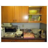 Kitchen Area:  Vintage Tupperware