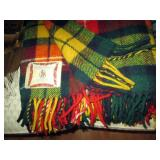 Dining Room:  Several wool Stadium blankets - 1 is Faribo