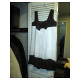 Hall Closet:  Vintage Dress White/Black