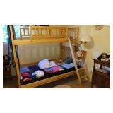1st Bed Room Right:  Excellent Wood Bunk Bed,