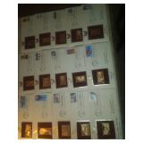 Stamps gold plated firts issue