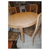 Carrara Marble table and 4 chairs