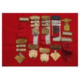 Medals and name tags from the Sons of Confederate Veterans 1930s/40s