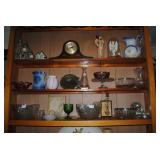 Set Thomas clock, silver plate, glassware and more!