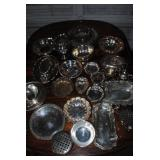 Great collection of silver plate serving pieces