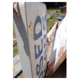 used Car sign (one side) on metal pole